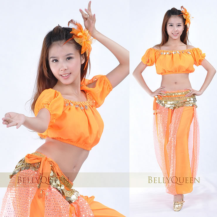 Женская одежда jasmine aladdin costume Belly dance clothes set lantern short-sleeve chiffon bloomers dance clothes в интернет-ма